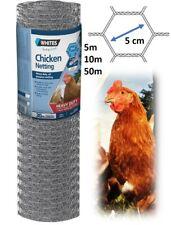 Galvanised Chicken Wire Netting Roll Garden Fencing Pen Hex Mesh Animal Run Cage