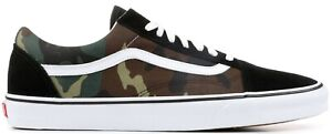 Vans Old Skool Black Woodland Camo Canvas Suede Skate shoes