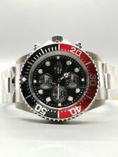 Invicta Men's 43mm Pro Diver Coca-Cola Bezel Black Dial Chronograph Watch