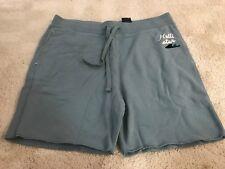 Hollister Beach Prep Fit Fleece Athletic Shorts Size XL Color Blue Brand New