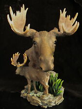 Ceramic Moose Bust and Figurine Statue Westland Giftware