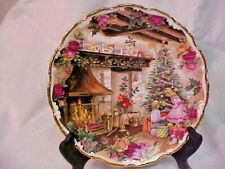 ROYAL ALBERT OLD COUNTRY ROSES CHRISTMAS JOY PLATE FRED ERRILL 1990 ENGLAND