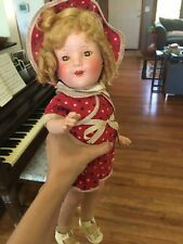 Antique 1930s Miss Charming Composition Shirley Temple look alike Doll Eegee