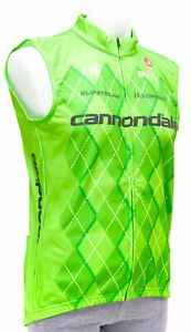 Castelli Cannondale Pro Cycling Team Thermal Vest Men 2XL Road Bike Green Argyle
