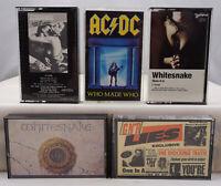 Guns N' Roses, AC/DC, Scorpions, Whitesnake Vintage Rock Cassette Tape Lot x 5