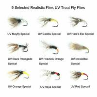 Riverruns Tenkara Flies Kebari 9 Selected Realistic Flies UV Trout Fly Flies New