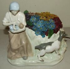 Antique Imperial Amphora Teplitz Austrian Figural Porcelain Ceramic Boudoir Lamp