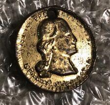 "VTG Gold Tone ""George Washington 1789-1797 USA"" Replica Coin Pendant"