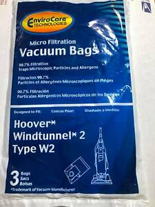 Hoover Type W2 Windtunnel Allergy Vacuum Bag 6PK