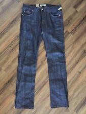 Naked & Famous Denim 11oz dry indigo slub skinny guy jeans 34X34 NEW made canada