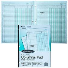 """Wilson Jones G7204A Columnar Pad, 4 Column, Green Tint, Column Write 11 x 8-1/2"""""""