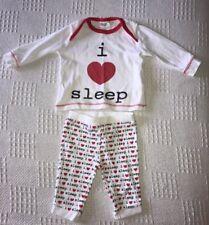 "F&F Unisex ""I Love Sleep"" Pyjama Set. Age Up To 1 Month"