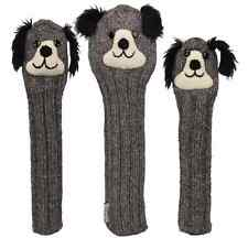 Sunfish Dog animal knit wool golf headcover set - DR, FW, HB
