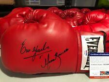 ERIK MORALES MARCO BARRERA Signed Autograph Everlast Leather Boxing Glove PSA