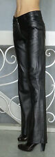 NEW AVANTI Black STRETCH Lamb Leather Pants Size 4