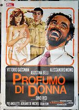 manifesto 2F film PROFUMO DI DONNA Vittorio Gassman Agostina Belli D.Risi 1974