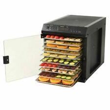 vidaXL 50599 480W Déshydrateur Alimentaire Acier Inox avec 11 Plateaux - Noir