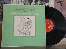 BEETHOVEN KREUTZER AND SPRING SONATAS, RUBINSTEIN SZERYNG SHADED DOG LP LM-2377