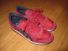 ASICS CLASSIC RUNNER RED SUEDE  unisex SIZE 6.5 HL517