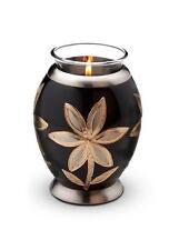 Candle Holder Keepsake (Black) Cremation Ashes / Funeral / Beautiful Mini Urn