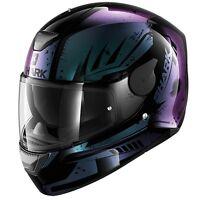 Shark D-Skwal - NEW D-Skwal DHARKOV KVX Purple Motorcycle HELMET ZQ