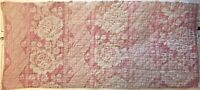 Beautifully 18th C. French Linen Quilted Block Printed Fabric  (2517)