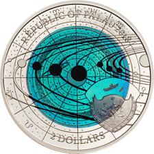 Palau 2018 2$ Uranus Niobium - Solar System Silver Coin