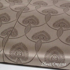 Peacock Alley Couture 560 TC Egyptian Cotton La Scala Mocha Queen Duvet Cover