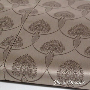 Peacock Alley Couture 560 TC Egyptian Cotton La Scala Mocha Queen Duvet Cover