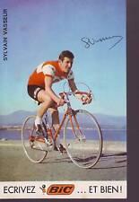 CYCLISME carte SYLVAIN VASSEUR (equipe BIC ) 1969 signée