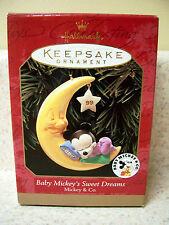 1999 Hallmark Disney Baby Mickey's Sweet Dream Ornament
