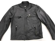 HARLEY DAVIDSON MENS BASIC RIDER LEATHER MOTORCYCLE JACKET MEDIUM USA 98124-98VM