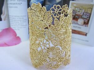 NEW - Fashion Bracelet, Hollow Lace Leaf Design