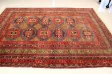 Genuine Afghan Hand Made Antique Balochi Tribal Area Rug 6'x9'  100% Wool Pile