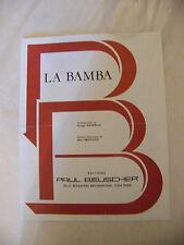 Partition La Bamba Georges Manfield Marc Provance