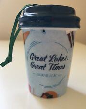 2017 Starbucks Great Lakes Great Times Michigan Christmas Cup Ornament