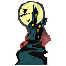 HAUNTED HOUSE Halloween Decoration CARDBOARD CUTOUT Standup Standee Poster F/S