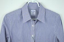 New Brooks Brothers sz 8 Striped Shirt Fitted Blue White Button Up NWT