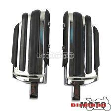 Pilota anteriore e posteriore piede esegue il pegging pedali Chrome si adatta a Harley CVO Dyna Fatboy Sportster