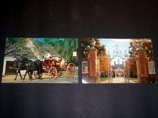 2 1960's Williamsburg Virginia Postcards Palace Gates & Mulberry Phaeton