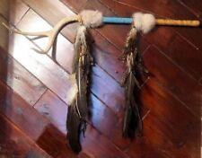 Native American Cherokee Beaded CEREMONIAL Deer Antler Dance Talking Stick