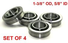 "LOT OF 4, FLANGE BEARINGS 1-3/8"" OD, 5/8"" ID,GO KARTS, BUFFERS, CARTS,LAWNMOWERS"