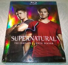 Supernatural - The Sixth Season (Blu-ray, 2011, 4-Disc Set) w/ Slipcover NEW