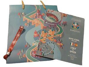 Euro 2020 Programme Rare Collectors VIP Hospitality Wristband and Euro Gift Bag
