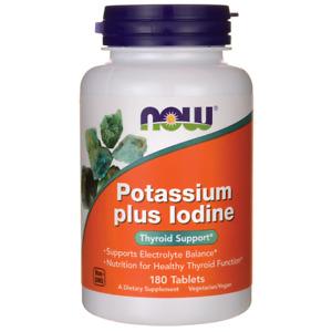 NOW Foods Potassium Plus Iodine 180 Tabs