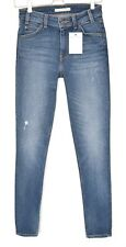 Levis 721 VINTAGE HIGH RISE SKINNY Blue Distressed Stretch Jeans Size 6 W25 L30