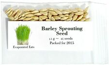 45 USDA Certified Organic Barley Sprouting Seeds Non GMO Packed for 2017