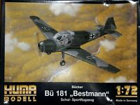 Huma 1/72 Bucker Bu181 Bestmann unmade complete kit sealed bag