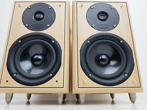 Vintage Eltax Monitor III Main / Stereo Speakers in Beachwood Finish, Working