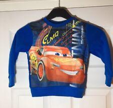 DISNEY Cars Sudore Camicia/maglione blu età 3 ANNI NUOVO CON ETICHETTA